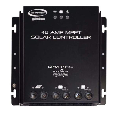 Go Power 40 Amp Charger Controller + Free Shipping - Shop Solar Kits