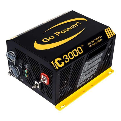 Go Power! IC Series 3000 Watt Inverter Charger - Free Shipping! - Shop Solar Kits