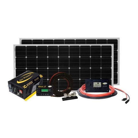 Go Power! Solar Elite 320 Watt Complete Solar Kit + Free Shipping - Shop Solar Kits