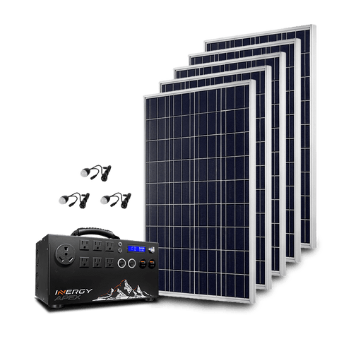 Image of Inergy APEX Gold Kit - 5 x Storm Solar Panels + Free Shipping & Installation Guide - Shop Solar Kits