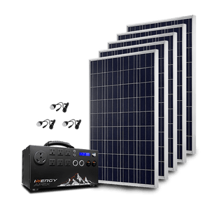 Inergy APEX Gold Kit - 5 x Storm Solar Panels + Free Shipping & Installation Guide - Shop Solar Kits