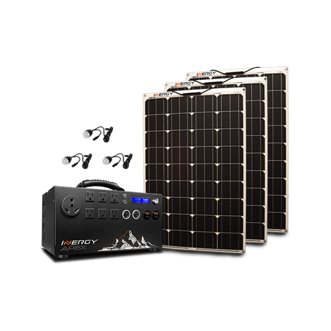 Image of Inergy Apex Silver Kit - 3 x Linx (Flexible) Solar Panels + Free Shipping & Installation Guide - Shop Solar Kits