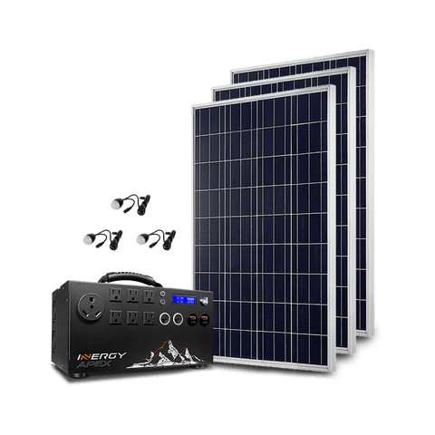 Image of Inergy APEX Silver Kit - 3 x Storm Solar Panels + Free Shipping & Installation Guide - Shop Solar Kits