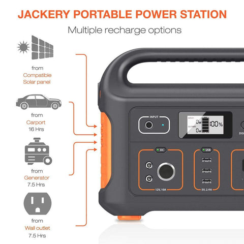Image of Jackery Explorer 500 Watt Portable Power Station - NO Sales Tax! - Shop Solar Kits