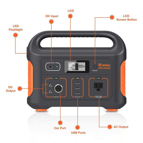 Image of Jackery Explorer 500 Watt Portable Power Station - NO Sales Tax! G0500A0500AH Jackery
