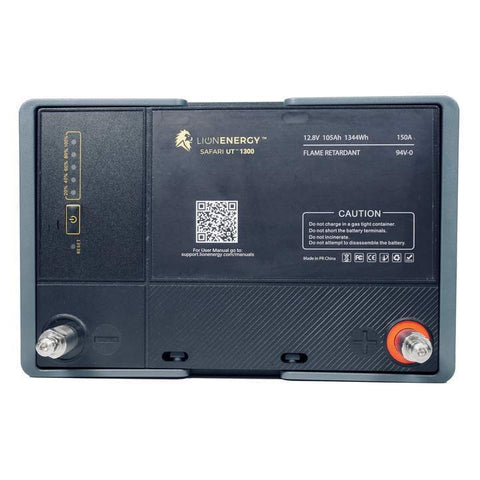 Image of Lion Energy Safari UT 1300 Lithium Ion Solar Battery 105Ah + Free Shipping, No Sales Tax & Free After-Sale Support - Shop Solar Kits