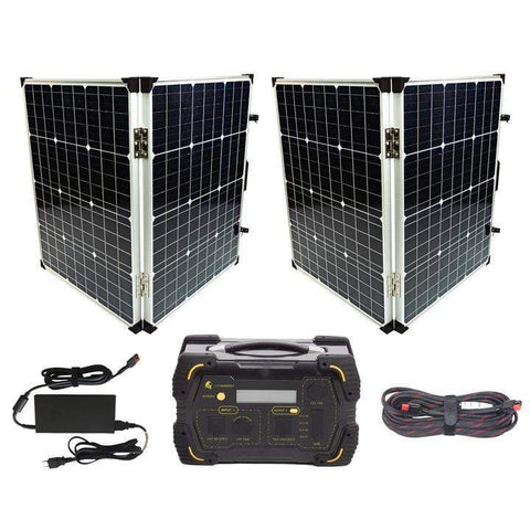 Image of Lion Energy [Ultimate] LT 500 Solar Generator Kit + 2 x 100 Watt Solar Suitcases + Free Shipping & NO Sales Tax! - Shop Solar Kits