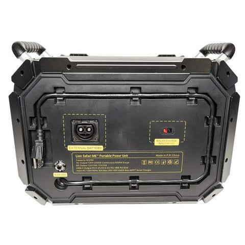 Image of Lion Safari ME 5.000wH Solar Generator Kit + 4 x 100W Solar Panel Suitcases Lion Energy