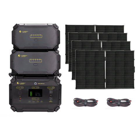 Image of Lion Safari ME 5.000wH Solar Generator Kit + 4 x 100W Solar Panel Suitcases LIONME5000-KIT Lion Energy