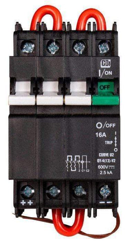 Image of Midnite Solar 600VDC Remote Trip Din Rail Mount Breaker 16-20 amp | MNEPV-600RT - Shop Solar Kits