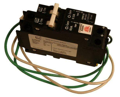 Image of Midnite Solar 63A/50VDC DIN Rail mount DC Ground Fault Protector | MNDC-GFP63 - Shop Solar Kits