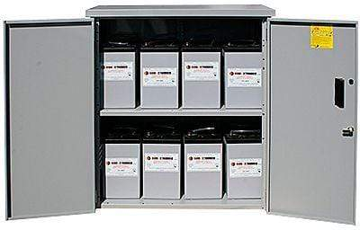 Image of Midnite Solar Battery Enclosure with Locking Door and 2 Shelves | MNBE-D - Shop Solar Kits