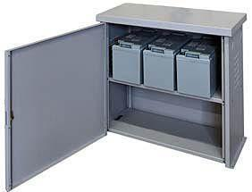 Image of Midnite Solar Battery Enclosure with Locking Door and One Shelf | MNBE-A - Shop Solar Kits