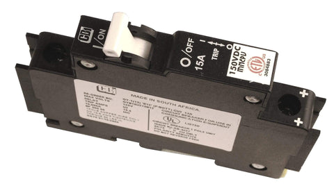 Image of MIDNITE SOLAR INC DIN MOUNT CIRCUIT BREAKER | MNEPV15 - Shop Solar Kits