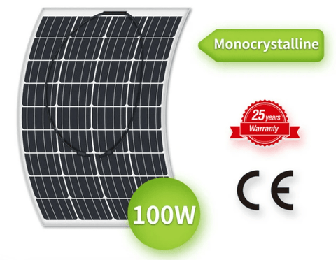 Image of NEWPOWA 100W 12V MONO SEMI-FLEXIBLE HIGH EFFICIENCY SOLAR PANEL | NPA100-SFM NPA100-SFM Newpowa