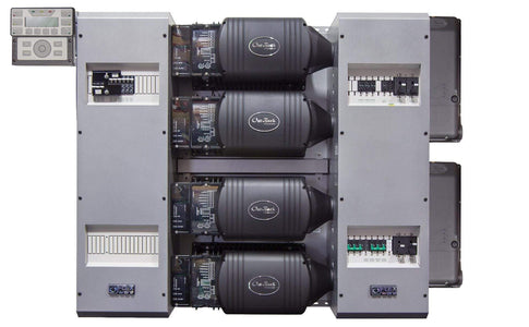 Outback Power FLEXpower Four 14.4kW 48V Pre-wired FXR Series System 120/240 with 300VDC 100A CC's - Shop Solar Kits