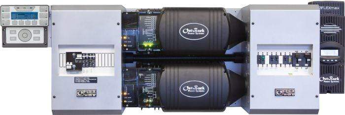 Outback Power FLEXpower Two 5kW 24V Pre-wired FXR Series System 120/240V - FP2 FXR2524A-01 - Shop Solar Kits