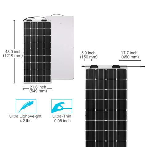 Image of Renogy 100 Watt Flexible Solar Panel | 12 Volt, Mono + Free Shipping & No Sales Tax - Shop Solar Kits
