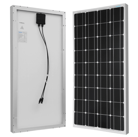 Renogy 100 Watt 12 Volt Mono Solar Panel (RNG-100D) + Free Shipping & No Sales Tax - Shop Solar Kits