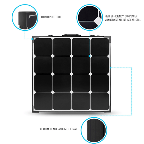 Renogy 100 Watt Eclipse Mono Solar Suitcase + Free Shipping & No Sales Tax - Shop Solar Kits