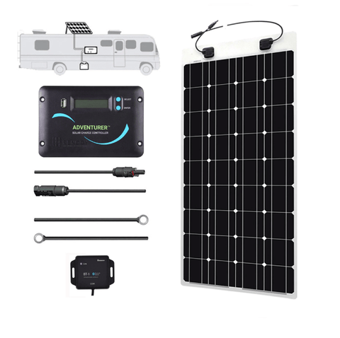 Image of Renogy 100 Watt Flexible Solar Panel RV Kit | Free Shipping & No Sales Tax - Shop Solar Kits