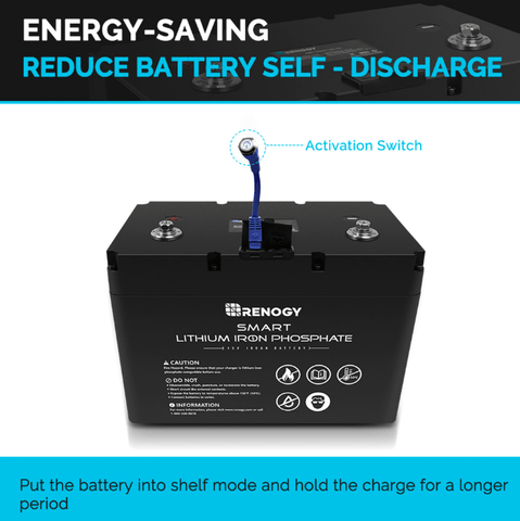 Renogy 12 Volt 100AH Smart Lithium Iron Phosphate Battery + Free Shipping & No Sales Tax RBT100LFP12S-G1 Renogy