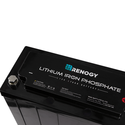 Image of Renogy 170AH 12 Volt Lithium-Iron Phosphate Battery + Free Shipping & No Sales Tax - Shop Solar Kits