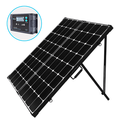 Image of Renogy 200 Watt 12 Volt Eclipse Mono Solar Suitcase w/ Charge Controller + Free Shipping & No Sales Tax - Shop Solar Kits