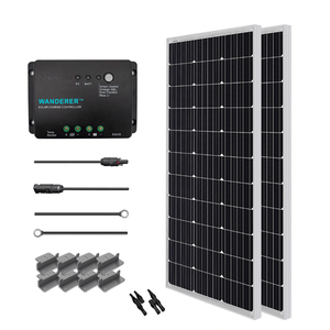 Renogy 200 Watt 12 Volt Mono Complete Solar Kit with Mounting Hardware + Free Shipping & No Sales Tax - Shop Solar Kits