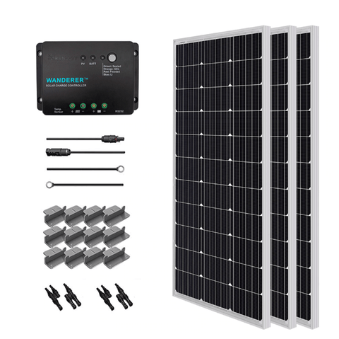 Renogy 300 Watt 12 Volt Complete Solar Kit Including Mounting Hardware + Free Shipping & No Sales Tax RNG-KIT-STARTER300D-WND30-BC Renogy