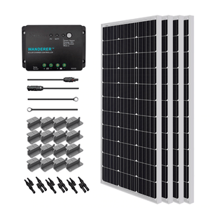 Renogy 400 Watt 12 Volt Complete Solar Kit w/ Mounting Hardware + Free Shipping & No Sales Tax - Shop Solar Kits