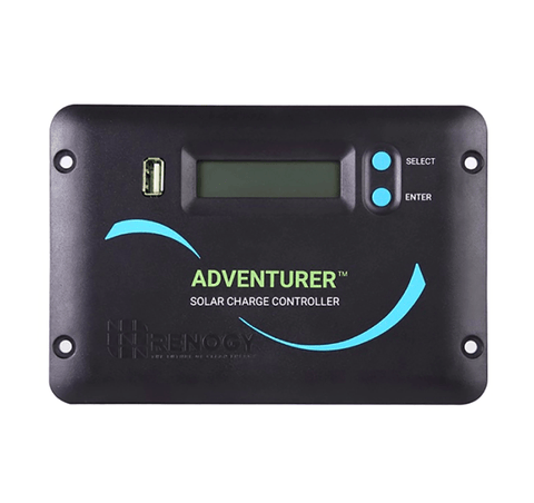 Image of Renogy Adventurer Li - 30Amp PWM Flush Mount Charge Controller with an LCD Display + Free Shipping & No Sales Tax - Shop Solar Kits
