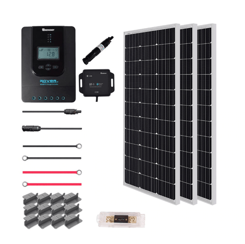 Renogy Premium 300 Watt 12 Volt Complete Solar Kit w/ MPPT + Free Shipping & No Sales Tax - Shop Solar Kits