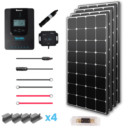 Renogy Premium 400 Watt 12 Volt Complete Solar Kit w/ MPPT + Free Shipping & No Sales Tax - Shop Solar Kits