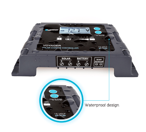 Renogy Voyager - 20A PWM Waterproof Charge Controller w/ LCD Display & LED Bar + Free Shipping! - Shop Solar Kits