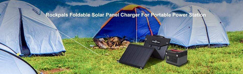 Image of 100W Foldable Solar Panel Charger | Rockpals | Free Shipping & No Sales Tax - Shop Solar Kits