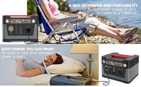 ROCKPALS 300W Portable Generator + Free Shipping, No Sales Tax & Free After-Sale Support - Shop Solar Kits