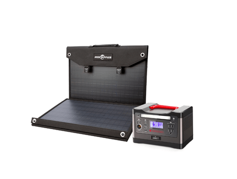 Image of ROCKPALS 540Wh Portable Solar Generator Kit + 1 x [60W] Solar Panel - Free Shipping & NO Sales Tax - Shop Solar Kits