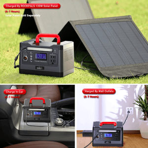 ROCKPALS 540Wh Portable Solar Generator Kit + 1 x [60W] Solar Panel - Free Shipping & NO Sales Tax - Shop Solar Kits