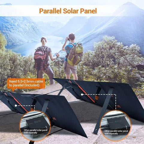 Image of 80 Watt Solar Suitcase Panel | RockPals | Free Shipping & No Sales Tax - Shop Solar Kits