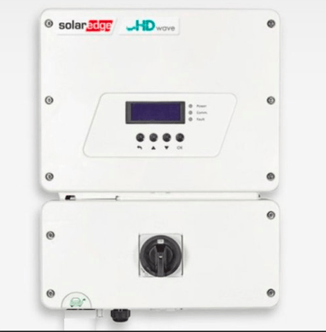 Image of SolarEdge HD Wave 7.6kW 240V EV Charger Enabled Inverter - SE7600H-US000NNV2 - Shop Solar Kits