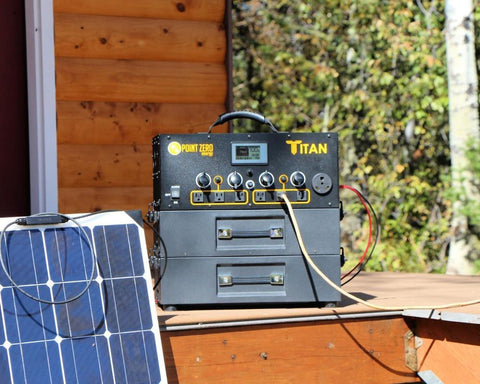 Image of Titan Solar Generator + 5 x 100 Watt Flexible Solar Panels | Complete Kit | Free Shipping & No Sales Tax - Shop Solar Kits