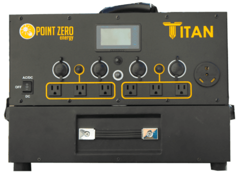 Titan Solar Generator + 5 x 100 Watt Solar Panels | Complete Kit | Free Shipping & No Sales Tax - Shop Solar Kits