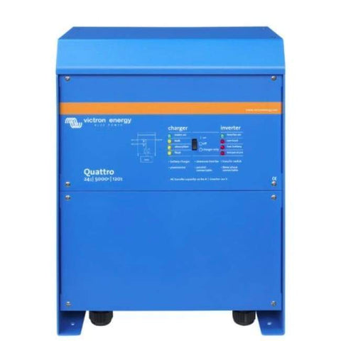 Image of Victron Energy Quattro - 48V/5000VA/70A-100/100/120V +50A aux Inverter/Charger - Shop Solar Kits