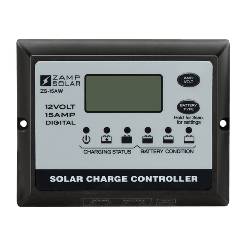 Image of Zamp Solar 15-Amp 5-Stage PWM Charge Controller | ZS-15AW + Free Shipping - Shop Solar Kits
