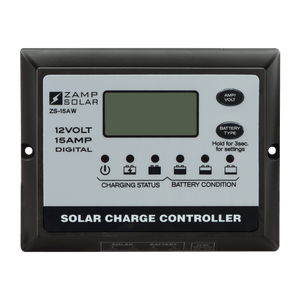 Zamp Solar 15-Amp 5-Stage PWM Charge Controller | ZS-15AW + Free Shipping - Shop Solar Kits
