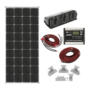 Zamp Solar 170 Watt Dual Battery Bank Roof Mount Kit | KIT2015 + Free Shipping - Shop Solar Kits