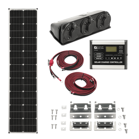 Image of Zamp Solar 90 Watt Long Roof Mount Kit | KIT1007 + Free Shipping - Shop Solar Kits