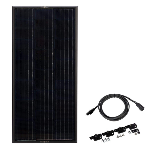 Zamp Solar Obsidian 100 Watt Panel Solar Kit | ZSK1006 + Free Shipping - Shop Solar Kits