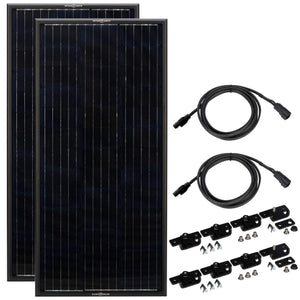 Zamp Solar Obsidian 100 Watt Solar Panel Kit | ZSK1007 + Free Shipping - Shop Solar Kits